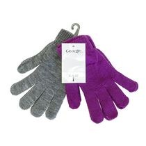 George Ladies' Knit Magic Gloves Grey/Orchid