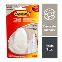 Command™ Quartz Decorative Double Hook