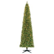 Holiday Time 9' Dawson Pencil Pine Christmas Tree with Clear Lights