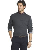 Arrow Men's Sueded Crew Neck Fleece Popover Sweatshirt Large