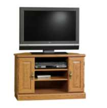 Sauder, Corner TV Stand, Carolina Oak Finish, 401486