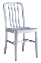 Zuo Modern Outdoor 2 Brushed Aluminum Gastro Dining Chairs