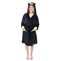 George Ladies' Hooded Character Robe Black S/M