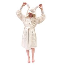 George Ladies' Hooded Character Robe White 1X-2X