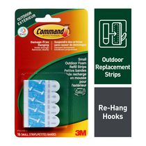 Command™ Outdoor Small Foam Refill Strips