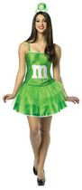 M&M Adult Dress Costume Size 4-10 -Green