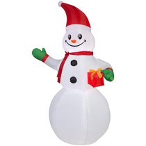 Airblown Self-Inflatable Snowman with Present