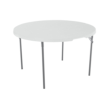 Lifetime 48-Inch Round Light Commercial Fold-In-Half Table