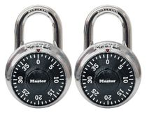 Master Lock 1500T 3-Digit Combination Padlock - 2 Pack