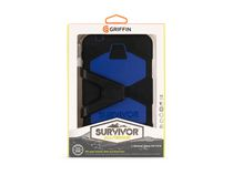 Griffin Survivor All-Terrain Case+ Stand for Galaxy Tab 4 7.0 - Black/Blue