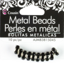 10 Piece Metal Black Rondelle Spacer