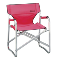 Steel Deck Chair Blue/Red