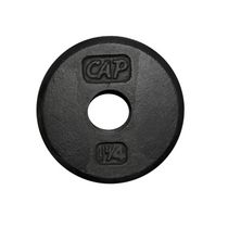 CAP Barbell 1-Inch Cast Iron Weight Plate, Black, Single, 1.25 Lbs