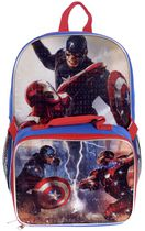 Captain America Backpack and Lunch Bag