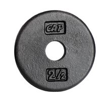 CAP Barbell 1-Inch Cast Iron Weight Plate, Black, Single, 2.5 Lbs