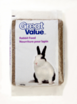 Nouriture pour lapin Great Value - 10 kg