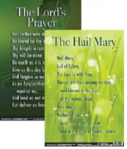 French/English Faith prayer poster set
