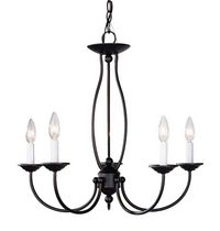 Home Basics 5-Light Palestine Bronze Chandelier
