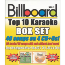 Sybersound - Billboard Top 10 Karaoke, Vol.1 (4 Disc Box Set)