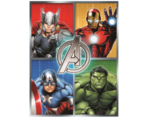 "Marvel 50"" x 60"" Avengers Halo Fleece Throw"