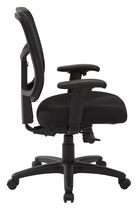 Work Smart Screen Back Managers Chair with Black Fabric Seat