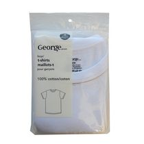 George Boys' Cotton T-Shirt Pack of 2 S