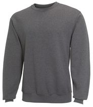 Fruit of the Loom Men's Fleece Crew Neck Top Grey L