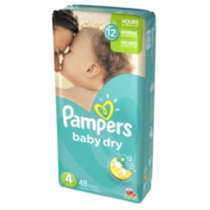 Pampers Baby Dry Diapers Mega Pack Size 4