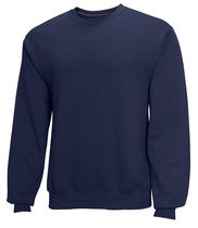 Fruit of the Loom Men's Fleece Crew Neck Top Navy S