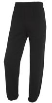 Fruit of the Loom Men's Fleece Elastic Bottom Pants Black M