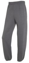 Fruit of the Loom Men's Fleece Elastic Bottom Pants Grey M