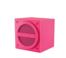 iHome IBT16PC Bluetooth Mini Cube haut-parleur rose