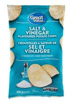 Great Value Salt & Vinegar Flavoured Potato Chips