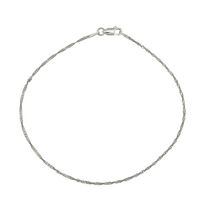 Silver Sterling Singapore Anklet