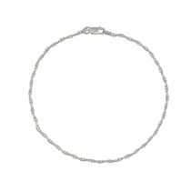 Silver Sterling Braid Anklet