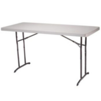6-Foot Adjustable Folding Table