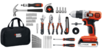 Black & Decker 20V MAX* Drill/Driver Project Kit (LDX120PK)