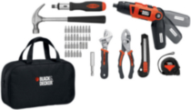 Tournevis au lithium-ion rechargeable Black & Decker trousse de projet (LI2000PK)