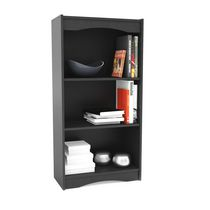 "Sonax S-007-NHL Hawthorn 48"" Tall Bookcase in Midnight Black"