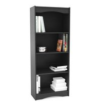 "Sonax S-107-NHL Hawthorn 60"" Tall Bookcase Midnight Black"