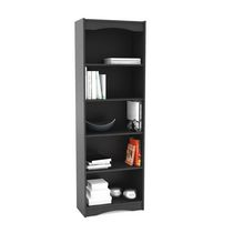 "Sonax S-207-NHL Hawthorn 72"" Tall Bookcase in Midnight Black"