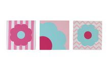Tickled Pink 3pk Wall Décor