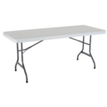White Granite Plastic Folding Table 4pk