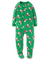 Child of Mine made by Carter's Infant Boy's Santa Printed Blanket Fleece Pyjama 12M