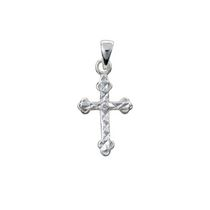 Sterling Silver Dc Cross with Cz In Center Charm