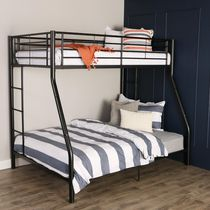Twin over Double Bunk Bed - Black