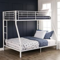 Twin over Double Bunk Bed - White