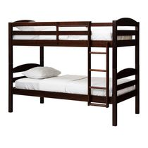 WE Furniture Espresso Twin Solid Wood Bunk Bed