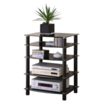 Black Multi-Level Component Stand