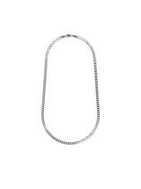"Sterling Silver 18"" Men's Chain with Curb Links"